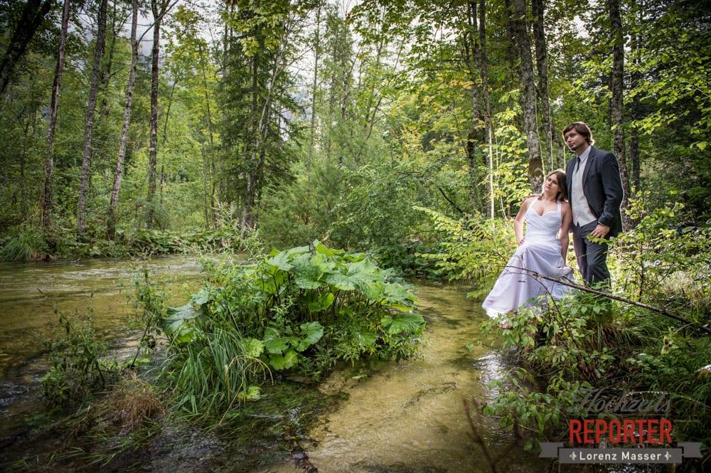Wald, See, Trash the Dress, Brautpaar, Hochzeits shooting, Hochzeitsfotograf, Wedding Photographer, Grundlsee, Land Salzburg, Lorenz Masser