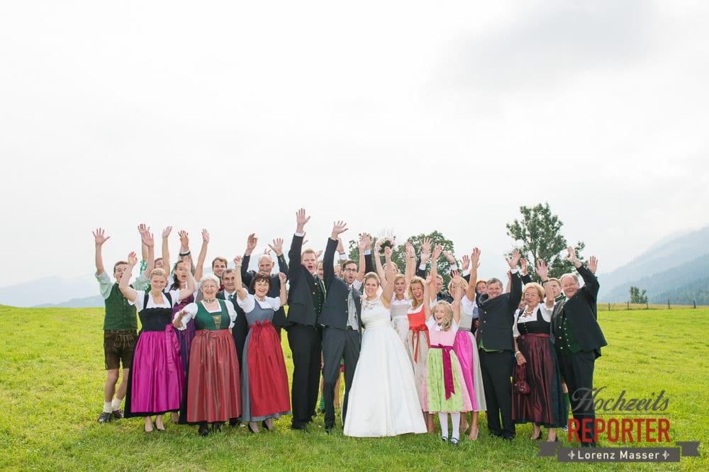 Hochzeitsgesellschaft, Winterbauer, Altenmarkt, Wedding, Wedding Photographer, Hochzeitsfotograf, Land Salzburg, Lorenz Masser