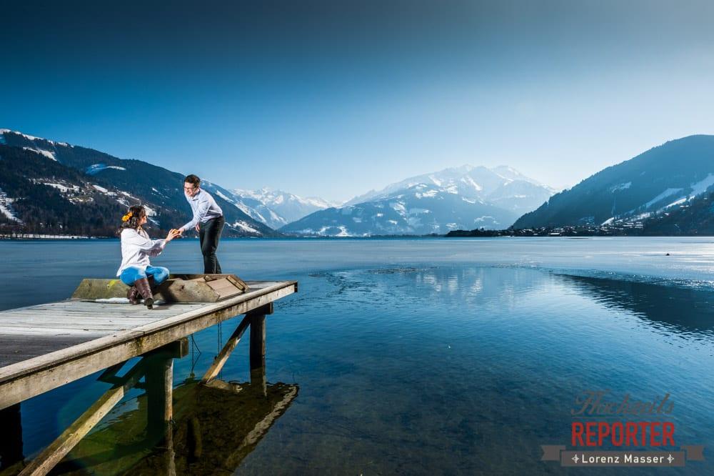 Steg, Engagement Shooting, Schloss Prielau, Zell am See, Land Salzburg, Fotograf, Hochzeitsfotograf, Hochzeit, Lorenz Masser