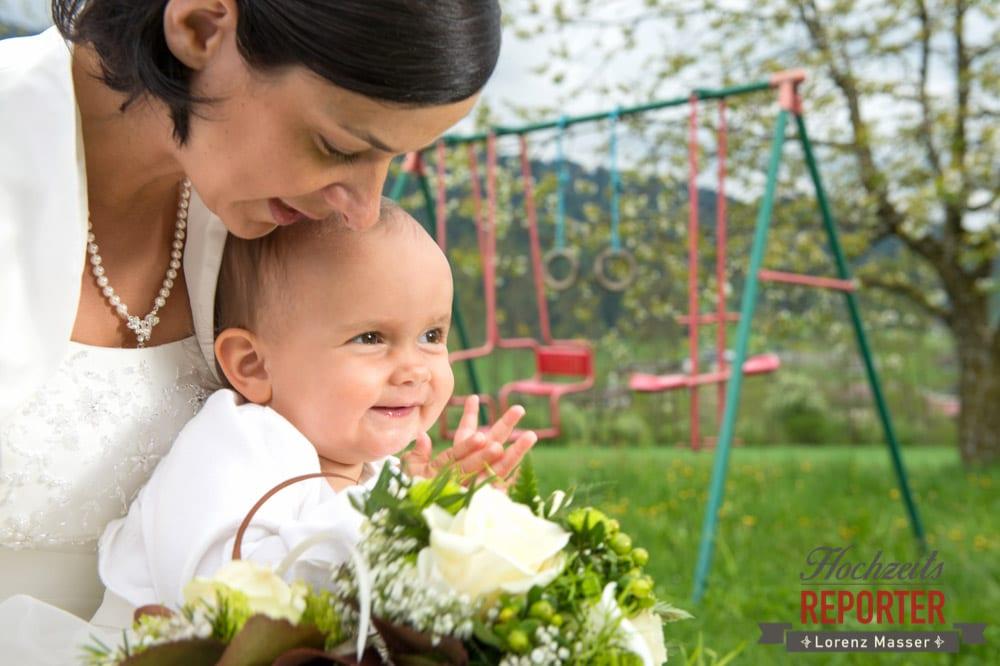 Braut mit Kind, Radstadt, Hochzeitsfotograf, Wedding Photographer,Land Salzburg,  Lorenz Masser