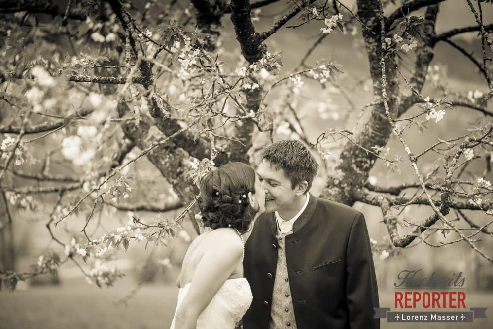 Kuss, Brautpaar, Radstadt, Hochzeitsfotograf, Wedding Photographer,Land Salzburg,  Lorenz Masser