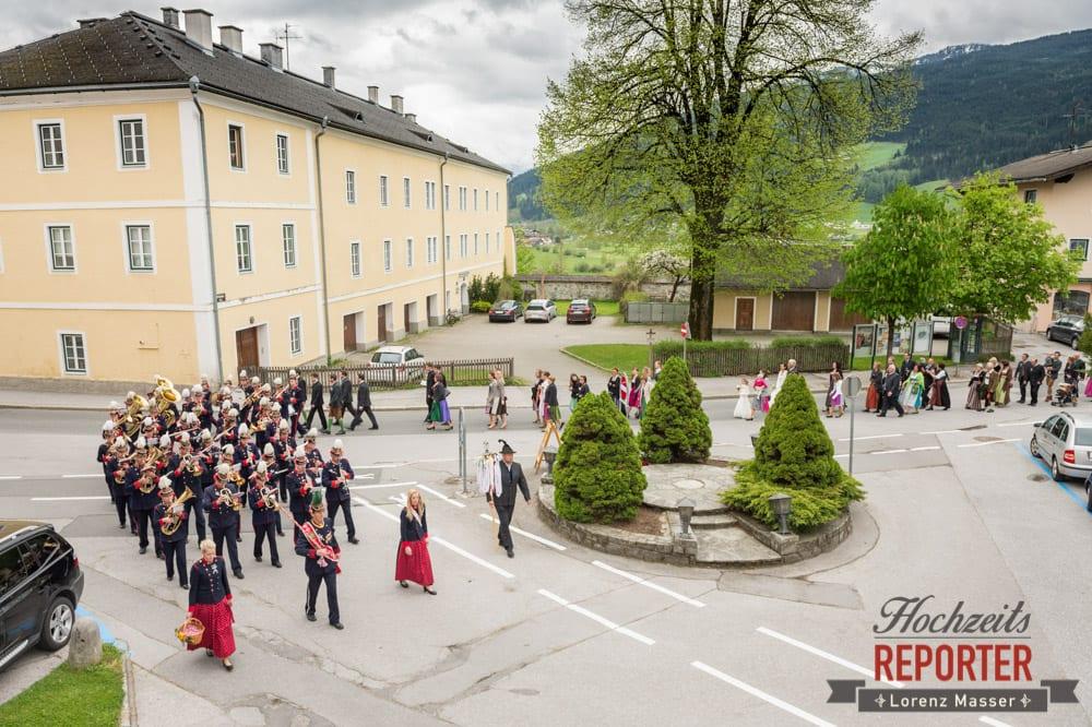 Hochzeitsgesellschaft, Umzug, Radstadt, Hochzeitsfotograf, Wedding Photographer,Land Salzburg,  Lorenz Masser