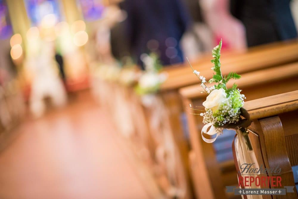 Kirchendekoration bei Hochzeit, Radstadt, Hochzeitsfotograf, Wedding Photographer,Land Salzburg,  Lorenz Masser