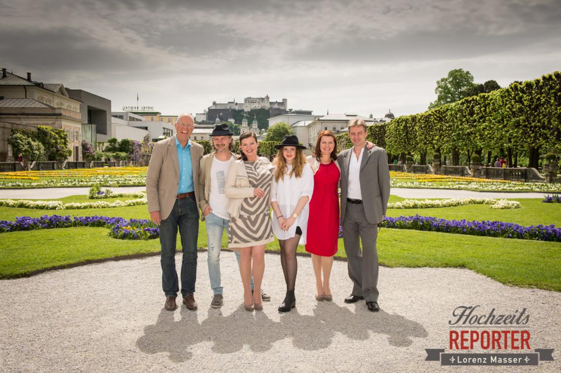 Hochzeitsgesellschaft, Schloss Mirabell, Altstadt Salzburg, Hochzeit, Hochzeitsfotograf, Wedding, Hochzeitsshooting, Wedding Photographer,Fotograf Land Salzburg, Lorenz Masser