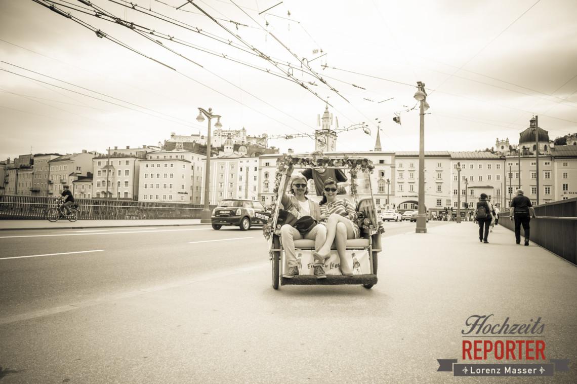 Mit Rischka durch Salzburg, Schloss Mirabell, Altstadt Salzburg, Hochzeit, Hochzeitsfotograf, Wedding, Hochzeitsshooting, Wedding Photographer,Fotograf Land Salzburg, Lorenz Masser