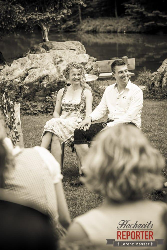 Brautpaar, Trauung, Trauung im Wald, Trauung in den Bergen,  Filzmoos, Hochzeitsfotograf, Wedding Photographer,Land Salzburg, Lorenz Masser
