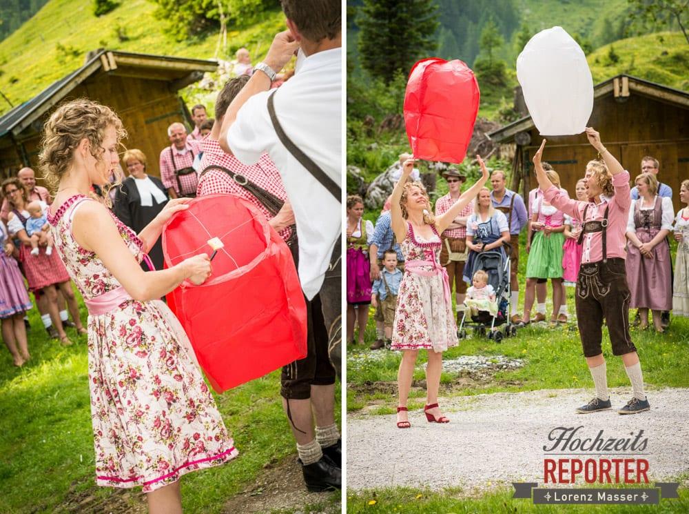 Wunschlichter, Hochzeitsbräuche, Filzmoos, Hochzeitsfotograf, Wedding Photographer,Land Salzburg, Lorenz Masser