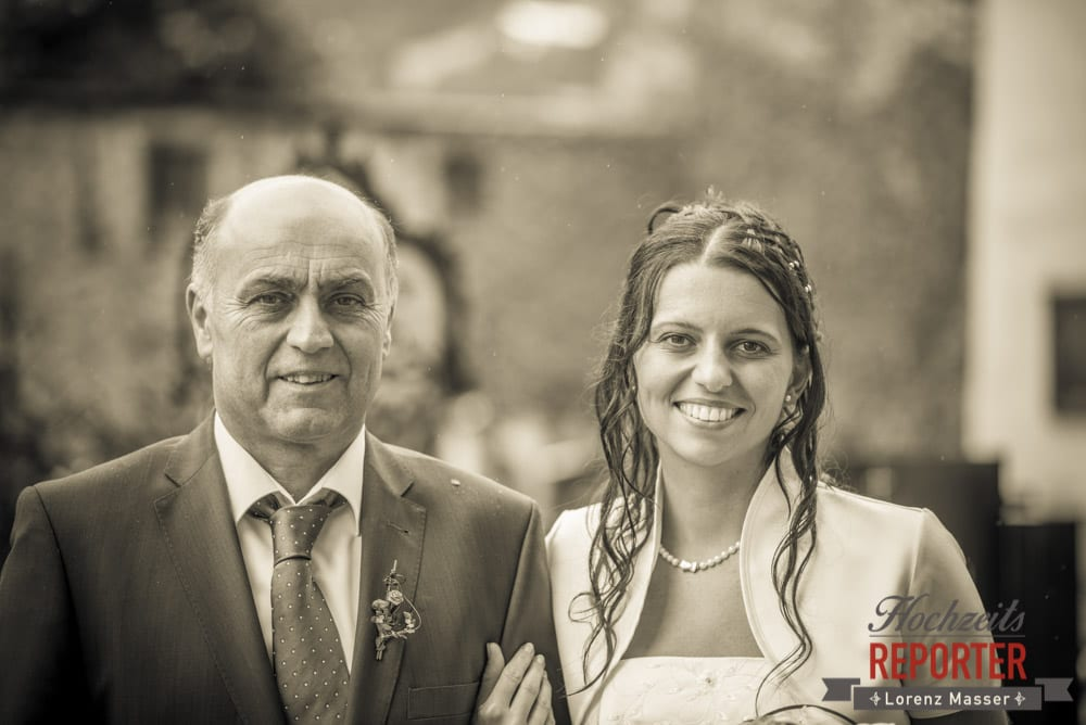Braut mit Vater, Portrait, Radstadt, Wedding Photographer, Hochzeit,Hochzeitsfotograf, Land Salzburg, Lorenz Masser