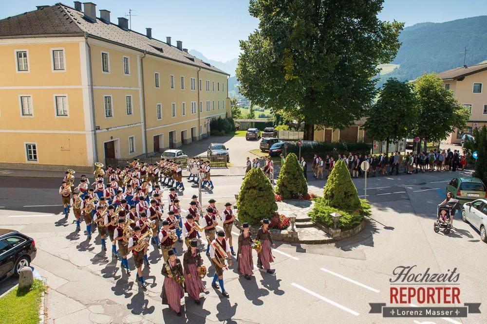 Trachtenmusikkapelle bei Hochzeit, Radstadt, Wedding Photographer, Hochzeit,Hochzeitsfotograf, Land Salzburg, Lorenz Masser