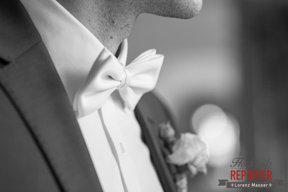 Fliege statt Krawatte bei Hochzeit,  Mondsee, Schloss,  Wedding Photographer, Hochzeit,Hochzeitsfotograf, Land Salzburg, Lorenz Masser