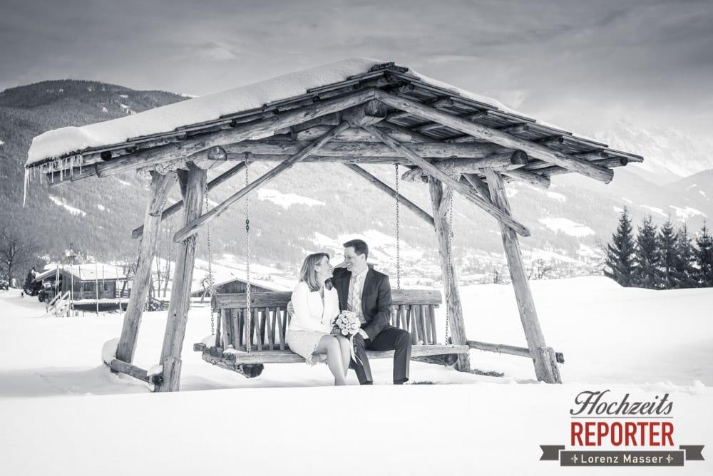 Winterhochzeit, Heiraten im Schnee