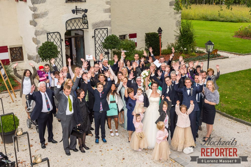 Hochzeitsgesellschaft, Schloss Prielau, Zell am See,  Wedding Photographer, Hochzeit,Hochzeitsfotograf, Land Salzburg, Lorenz Masser
