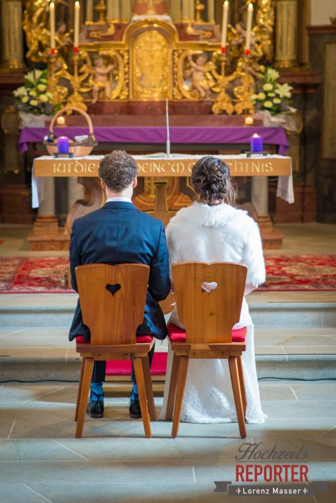 Brautpaar bei Trauung, Pichl, Ramsau, Hochzeitsfotograf, Wedding photographer, Land Salzburg, Lorenz Masser