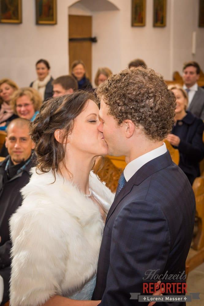Kuss, Trauung, Pichl, Ramsau, Hochzeitsfotograf, Wedding photographer, Land Salzburg, Lorenz Masser