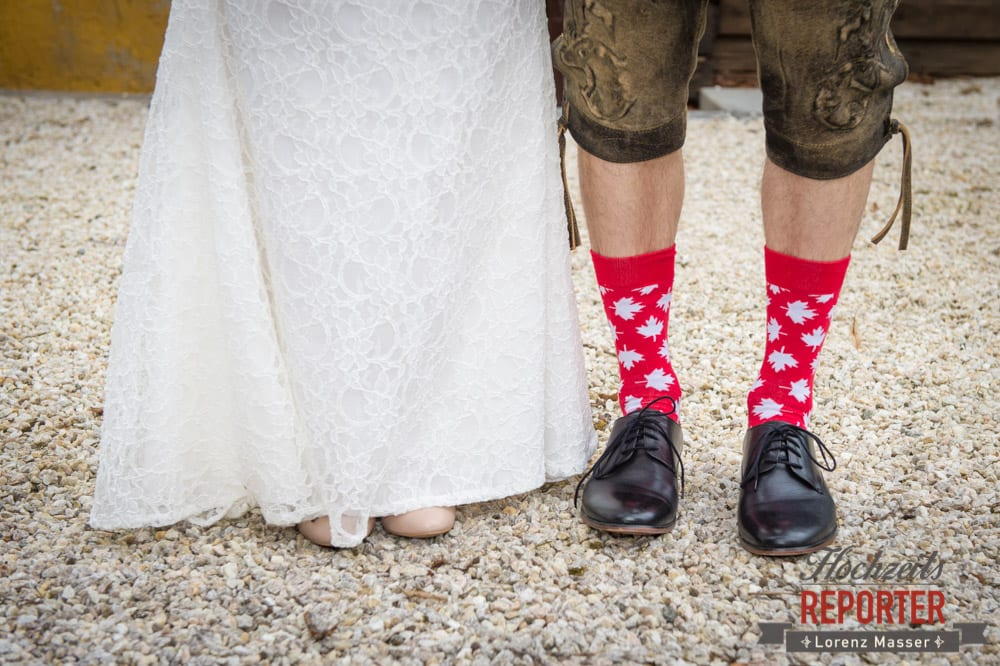 Kanadische Socken bei Hochzeit, Pichl, Ramsau, Hochzeitsfotograf, Wedding photographer, Land Salzburg, Lorenz Masser