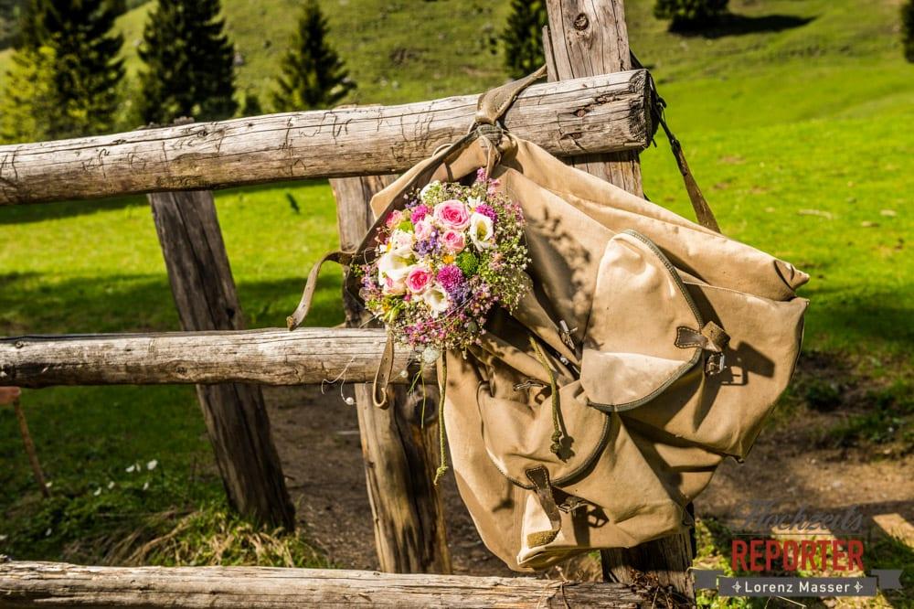 Brautstrauß, Unterhofalm, Filzmoos, Wedding, Hochzeit, Hochzeitsfotograf, Lorenz Masser, Land Salzburg