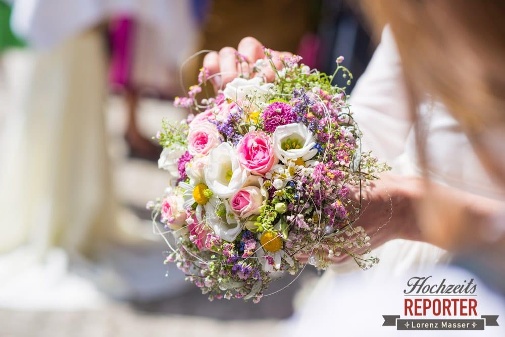 Blumenstrauß, Unterhofalm, Filzmoos, Wedding, Hochzeit, Hochzeitsfotograf, Lorenz Masser, Land Salzburg