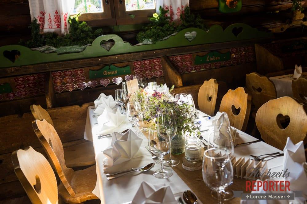 Hochzeitsbankett, Unterhofalm, Filzmoos, Wedding, Hochzeit, Hochzeitsfotograf, Lorenz Masser, Land Salzburg