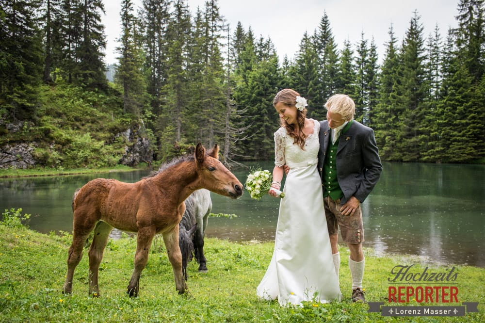 Portraitfotografie bei Hochzeit mit Pferden, Hochzeit, Filzmoos, Wedding, Hochzeitsfotograf, Land Salzburg, Unterhofalm, Lorenz Masser