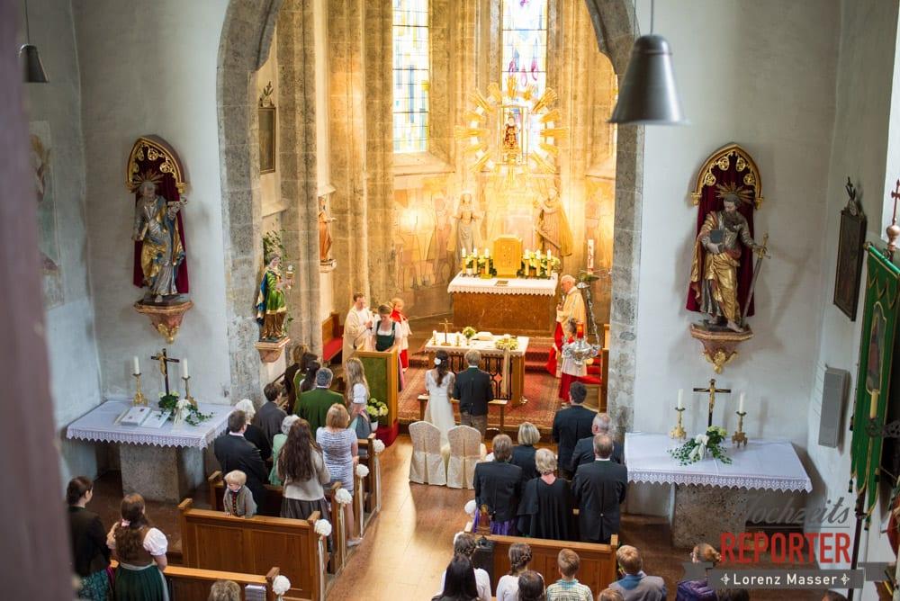 Kirchliche Trauung beim Filzmooser Kindl, Hochzeit, Filzmoos, Wedding, Hochzeitsfotograf, Land Salzburg, Unterhofalm, Lorenz Masser