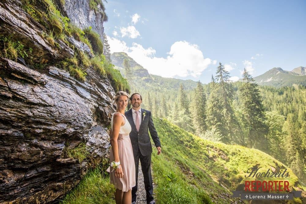 Brautpaar am Berg, Gnadenalm, Obertauern, Johanneswasserfall, Hochzeitsfotograf, Land Salzburg, Lorenz Masser