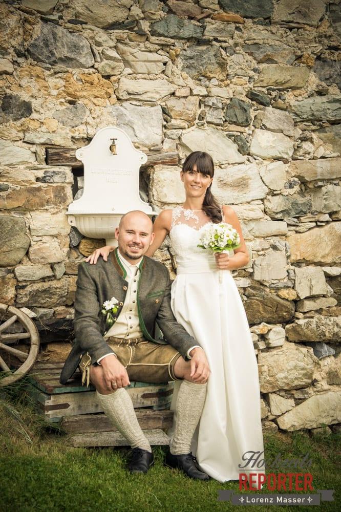 Brautpaar, Hochzeit, Hochzeitsfotograf, Gnadenalm, Wagrain, Land Salzburg, Lorenz Masser