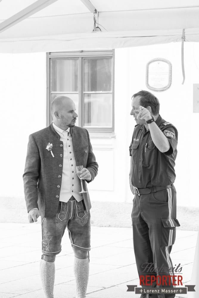 Polizei bei Hochzeit, Hochzeit, Radstadt, Wagrein, Hochzeitsfotograf, Land Salzburg, Lorenz Masser
