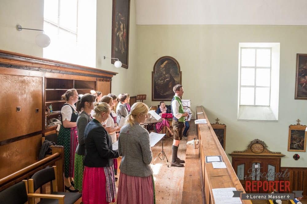 Chor bei Trauung in der Kirche, Hochzeit, Radstadt, Hochzeitsfotograf, Land Salzburg, Lorenz Masser