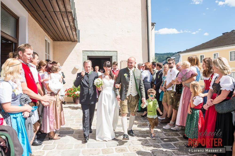 Nach der Trauung, Hochzeit, Radstadt, Hochzeitsfotograf, Land Salzburg, Lorenz Masser
