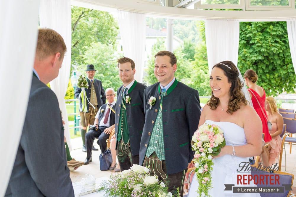 Brautpaar, Trauung im Pavillon, Standesamtliche Hochzeit, Bad Aussee, Hochzeitsfotograf, Land Salzburg, Lorenz Masser
