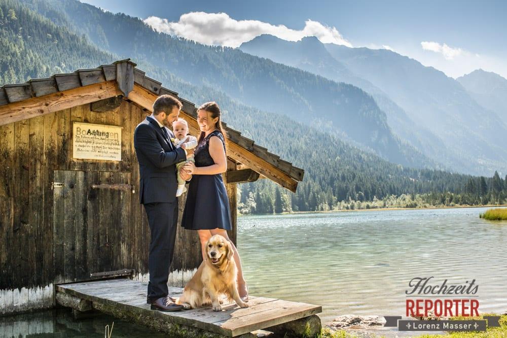Familie mit Hund, Hochzeit, Hochzeitsfotograf, Land Salzburg, Lorenz Masser