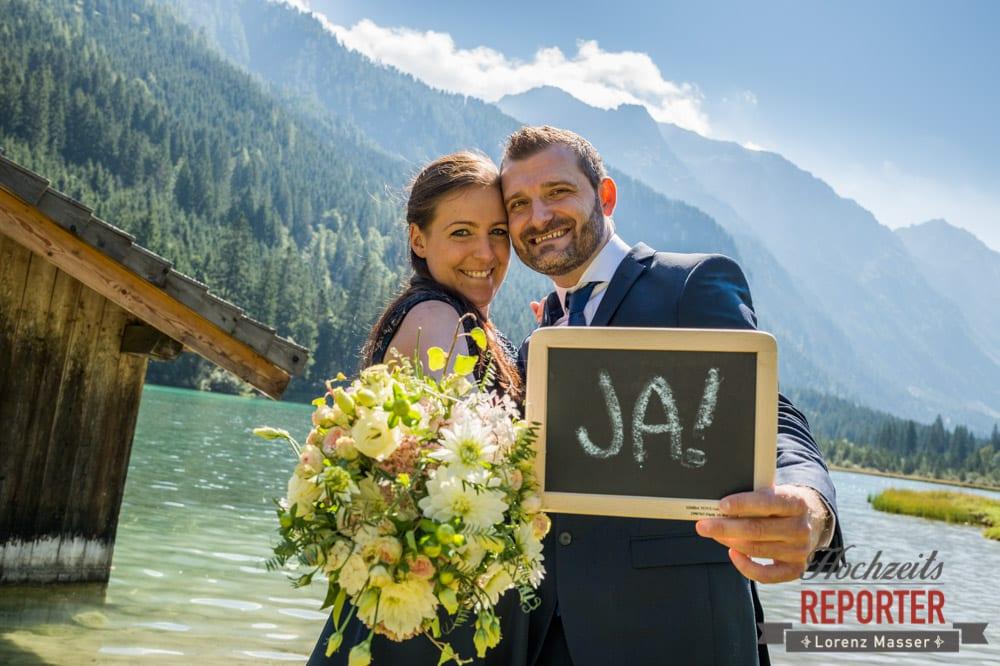 Brautpaar, Ja, Hochzeit, Hochzeitsfotograf, Wagrain, Land Salzburg, Lorenz Masser