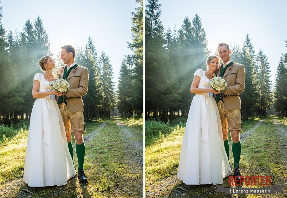 Hochzeit in den Bergen, Brautpaar, Altenmarkt, Hochzeitsfotografie, Land Salzburg