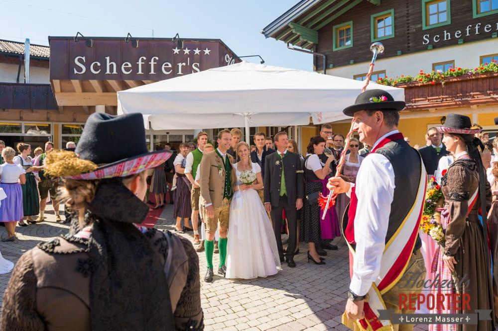 Musikkapelle, Brautpaar, Scheffers, Hochzeit, Hochzeitsfotograf, Altenmarkt, Land Salzburg, Lorenz Masser