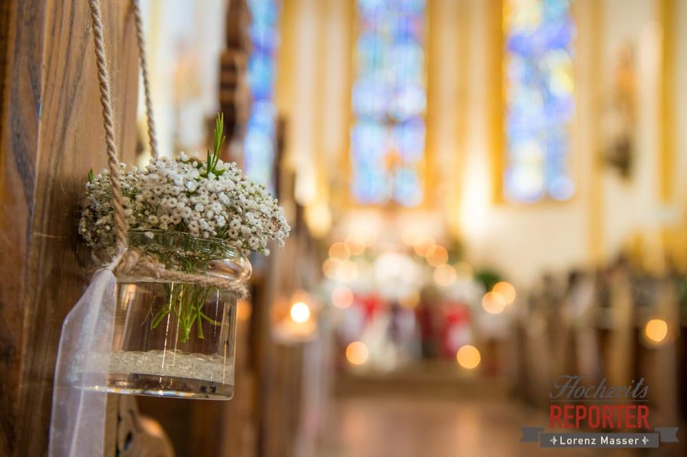 Hochzeit altenmarkt lilli michi for Dekoration hochzeit kirche