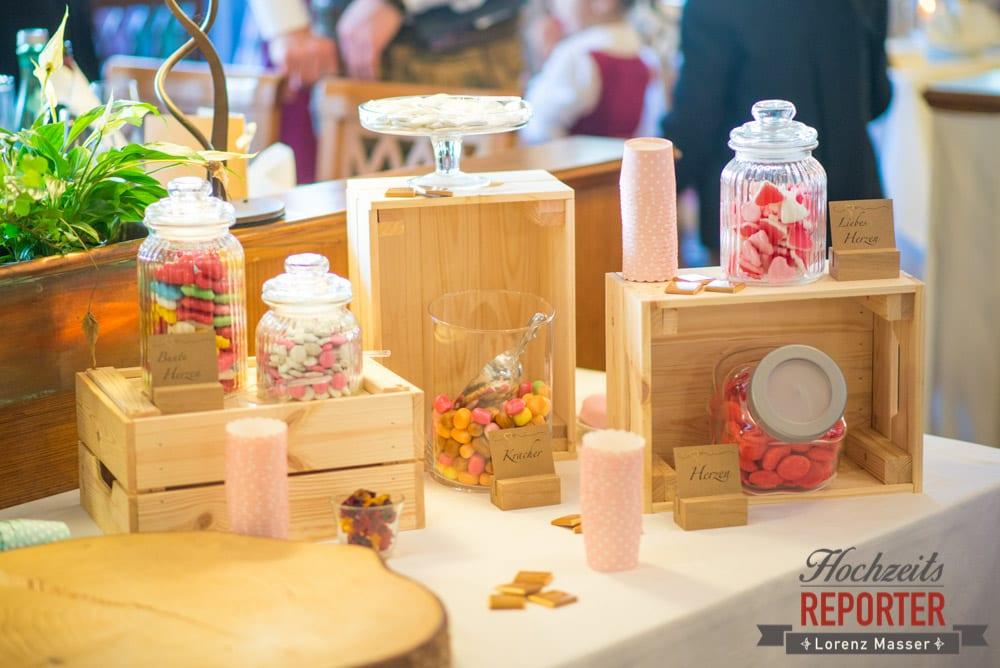 Süßigkeiten bei Hochzeit, Süßigkeitenecke bei Hochzeit, Hochzeit, Hochzeitsfotograf, Altenmarkt, Land Salzburg, Lorenz Masser