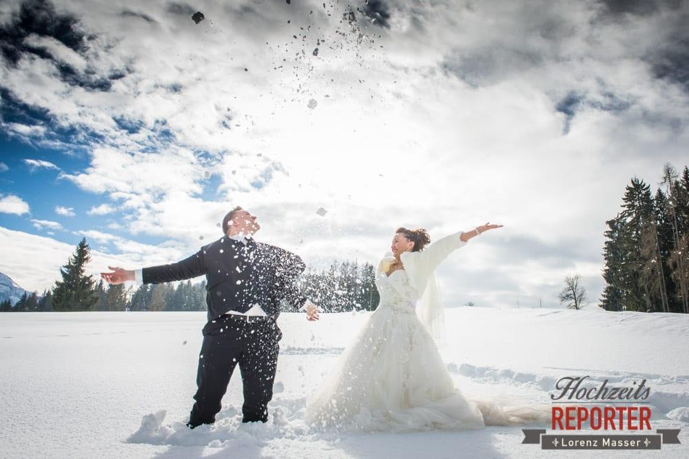 Hochzeit im Winter, Brautpaar, After Wedding Shooting, Hofstadl, Flachau, Hochzeitsfotograf, Land Salzburg