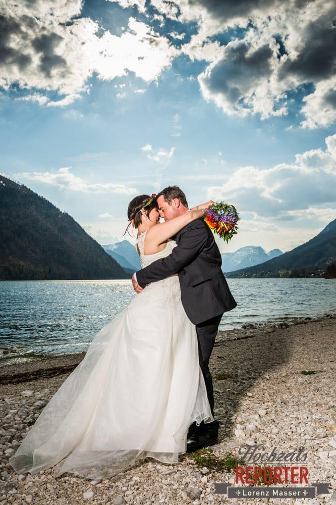 Hochzeitsfotograf, Fotoshooting am See, Steiermark, Grundlsee