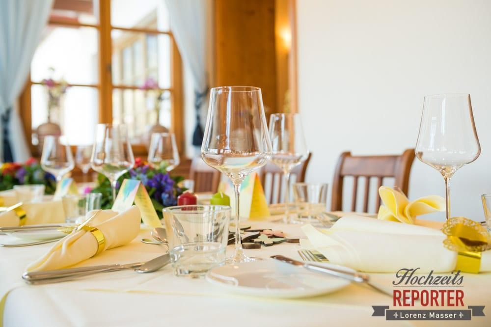 Tischdeko bei Hochzeit, Hochzeitsdekoration, Hochzeit, Fotograf, Hochzeitsfotograf, Steiermark, Grundlsee, Fotograf Land Salzburg