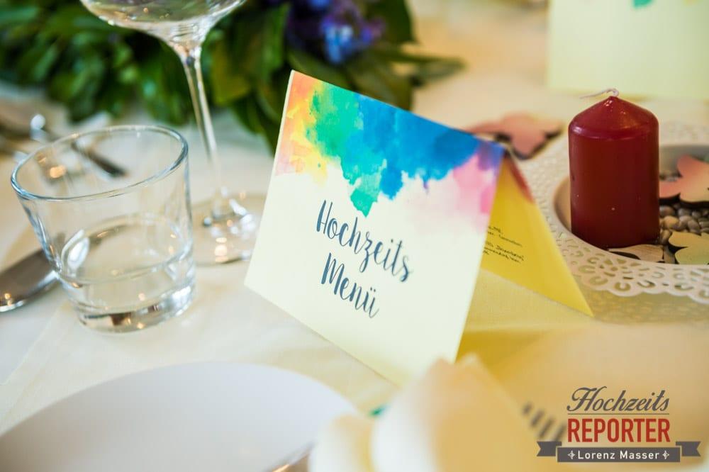 Kreative Dekoration zur Hochzeit, Menükarte gestalten,  Hochzeit, Grundlsee, Steiermark, Hochzeitsfotografie