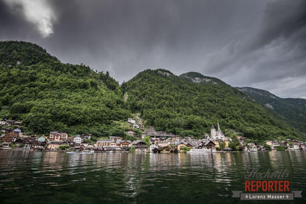 Hallstatt vom See aus, Hochzeit, Hallstatt, Hochzeit, Hochzeitsfotograf, Fotograf Land Salzburg, Lorenz Masser