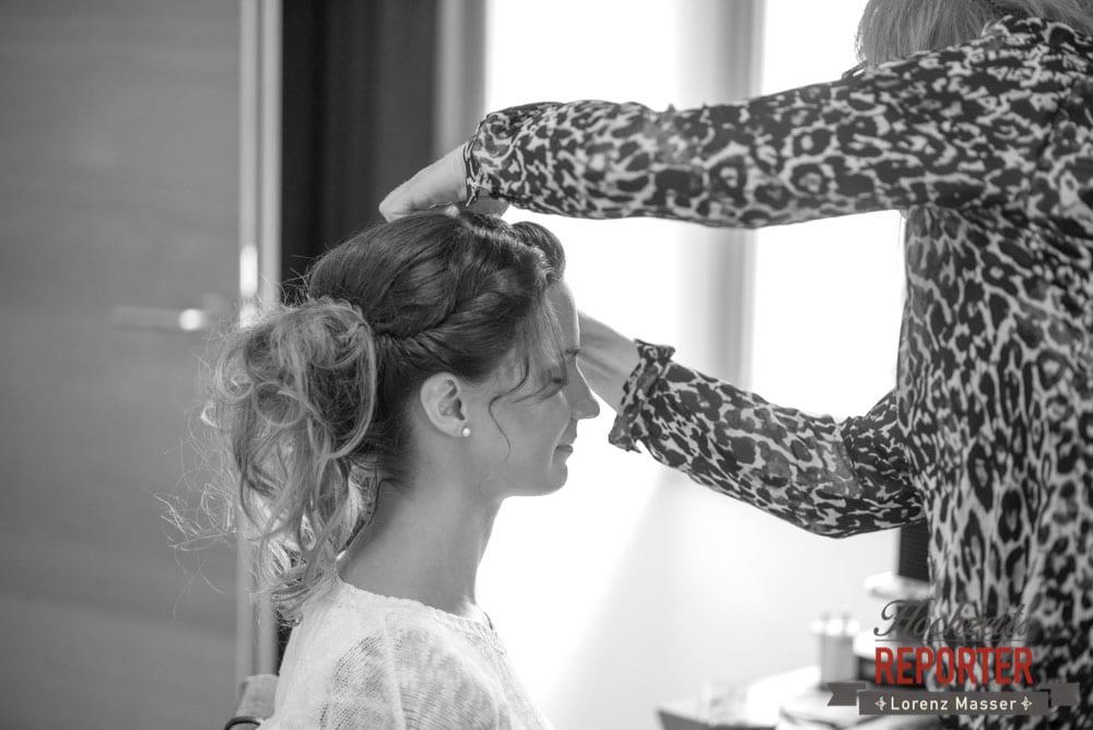 Frisur der Braut, Hochzeit, Hallstatt, Heritage Hotel, Hochzeit, Hochzeitsfotograf, Fotograf Land Salzburg, Lorenz Masser