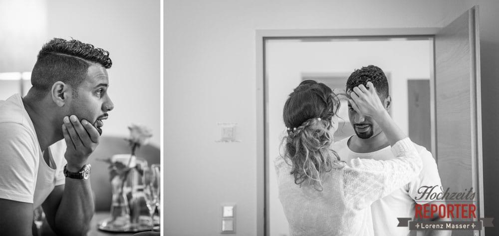 Aufgeregt, Hochzeit, Hallstatt, Heritage Hotel, Hochzeit, Hochzeitsfotograf, Fotograf Land Salzburg, Lorenz Masser