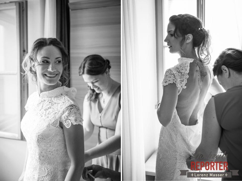 Braut bei Getting Ready, Hochzeit, Hallstatt, Heritage Hotel, Hochzeit, Hochzeitsfotograf, Fotograf Land Salzburg, Lorenz Masser
