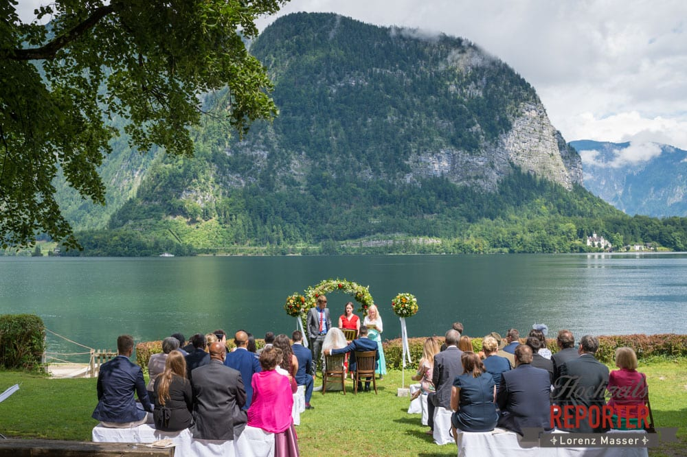 Trauung vor See, Hochzeit, Hallstatt, Heritage Hotel, Hochzeit, Hochzeitsfotograf, Fotograf Land Salzburg, Lorenz Masser