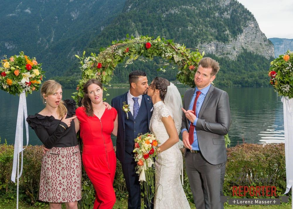Funny picture with bridal couple, Heritage Hotel, Hochzeit, Wedding, Hochzeitsfotograf, Fotograf Land Salzburg, Lorenz Masser