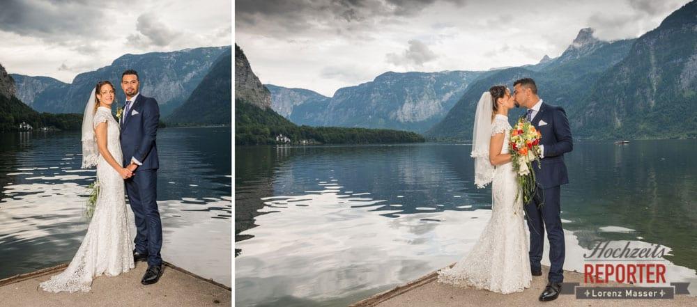 Brautpaar Portraitfotos am See, Heritage Hotel, Hochzeit, Wedding, Hochzeitsfotograf, Fotograf Land Salzburg, Lorenz Masser