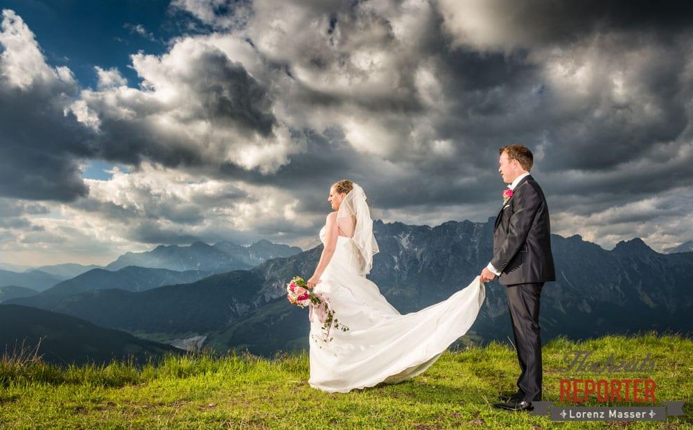 Hochzeit in den Bergen, Hochzeitsfotograf, Land Salzburg, Leogang, Asitz