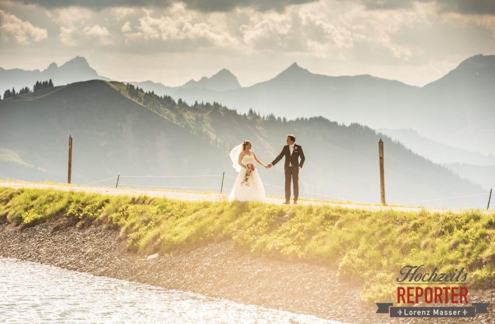 Hochzeit in den Bergen, Hochzeit, Hochzeitsfotograf, Brautpaar, Land Salzburg, Leogang, Asitz