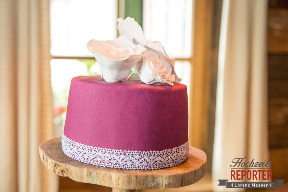 Hochzeitstorte, Pink, Fondant, Hochzeit, Hochzeitsfotograf, Land Salzburg, Leogang, Asitz